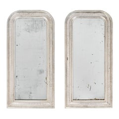 Pair of Silver Leafed Louis Philippe Mirrors