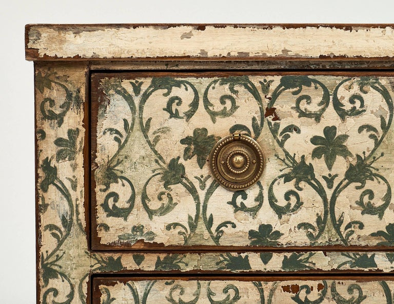 Early 20th Century Antique Painted Spanish Chest For Sale