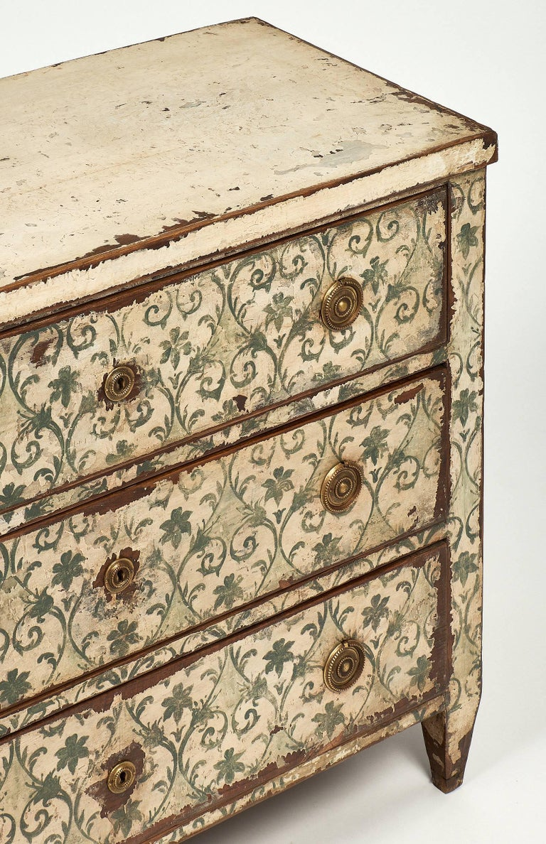 Antique Painted Spanish Chest In Excellent Condition For Sale In Austin, TX