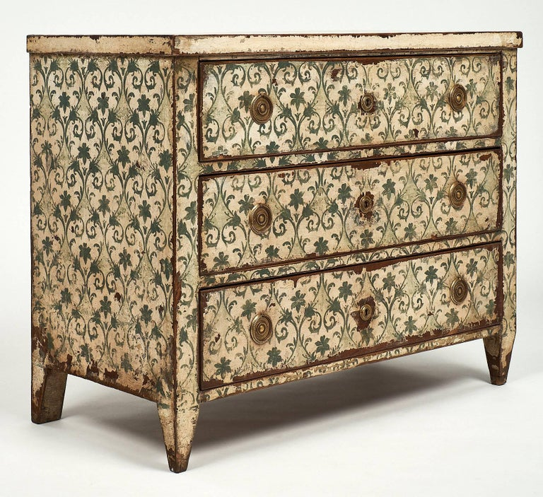 Hand-Painted Antique Painted Spanish Chest For Sale