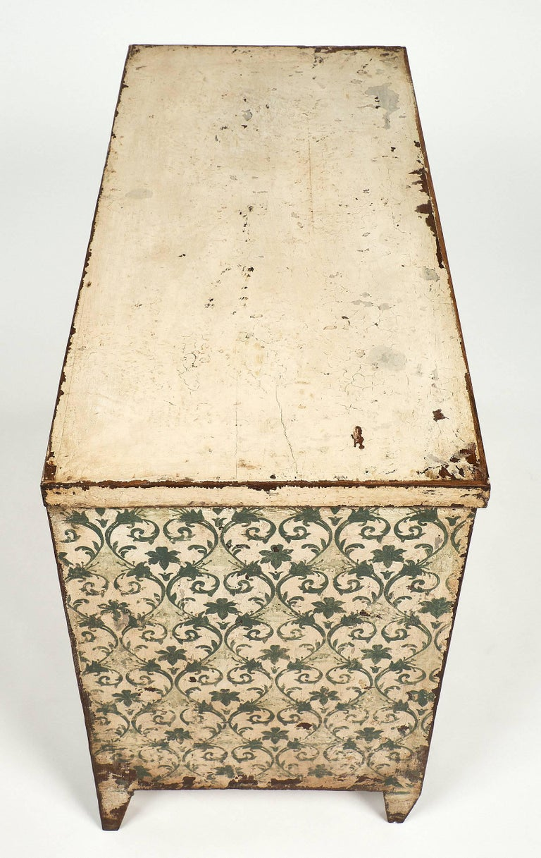 Antique Painted Spanish Chest For Sale 2