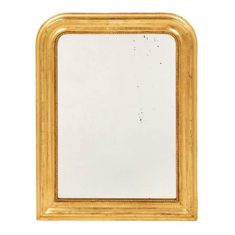 Small gold antique louis philippe mirror for sale at 1stdibs for Small gold mirror