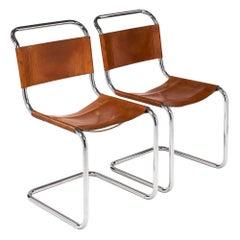 Vintage French Mies van der Rohe Side Chairs for Knoll