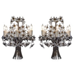 Vintage French Maison Baguès Crystal Chandeliers