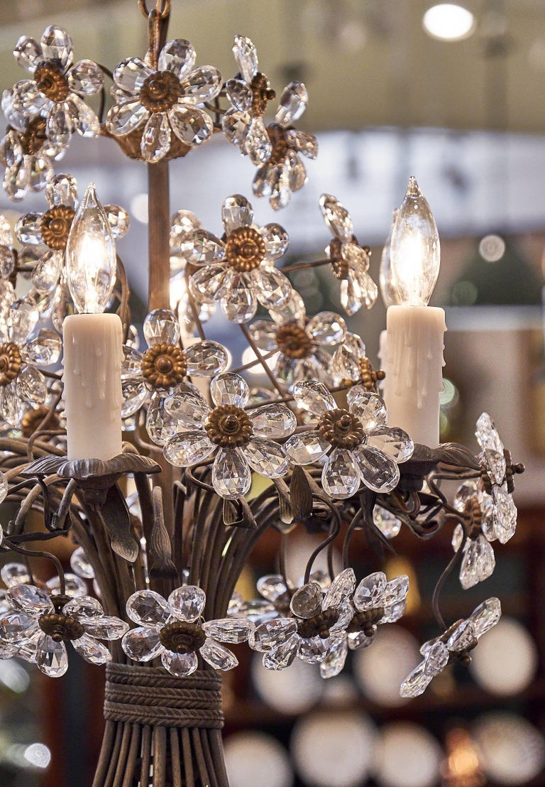 Art Deco Vintage French Maison Baguès Crystal Chandeliers For
