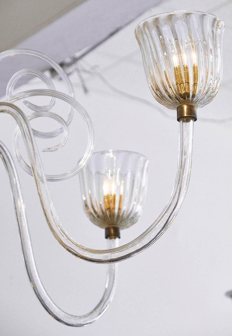 Vintage Murano Glass Chandelier For Sale 2