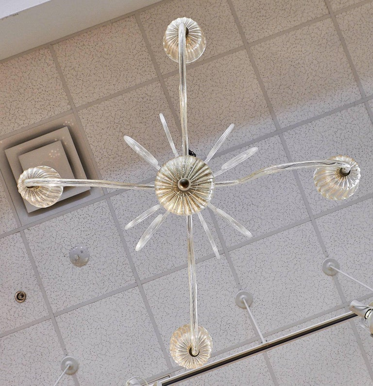 Vintage Murano Glass Chandelier For Sale 4