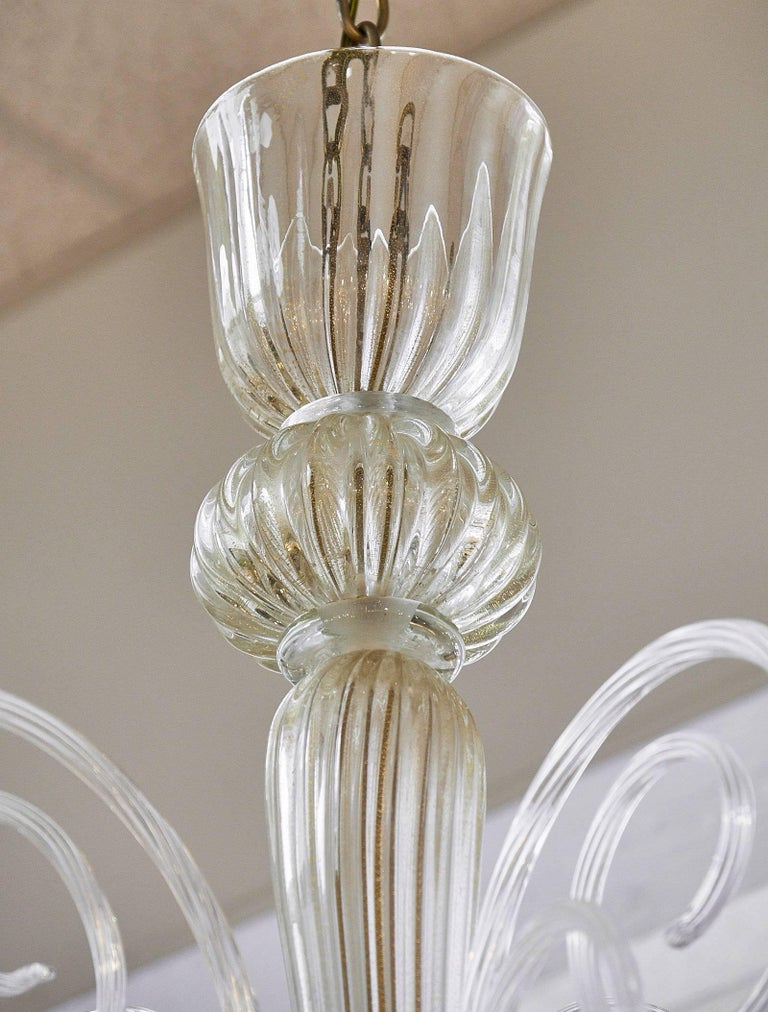 Vintage Murano Glass Chandelier For Sale 1