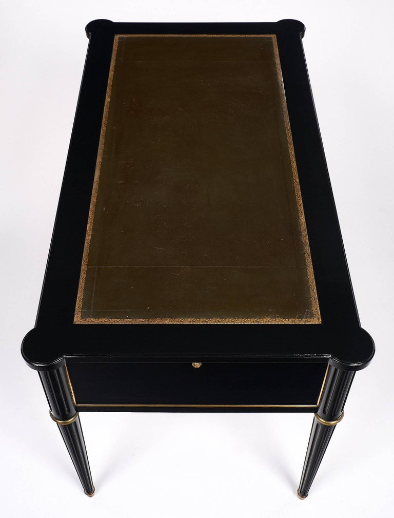 Brass Louis XVI Style French Antique Desk For Sale