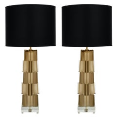 Geometric Murano Glass Table Lamps