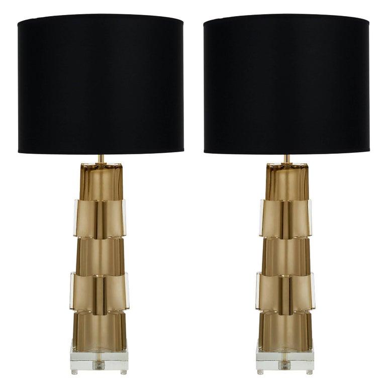 Geometric Murano Glass Table Lamps
