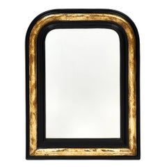 Black and Gold Napoleon III Period Mirror