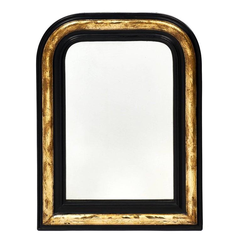 Black and Gold Napoleon III Period Mirror