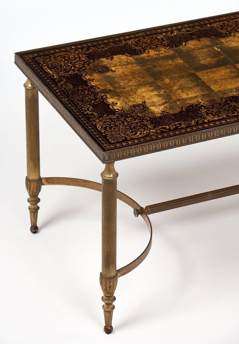 art deco coffee table with glomis glass top for sale at 1stdibs. Black Bedroom Furniture Sets. Home Design Ideas