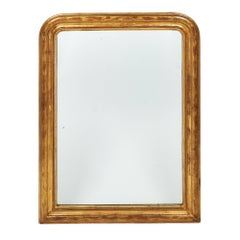 Antique Gold-Leaf Louis Philippe Mirror