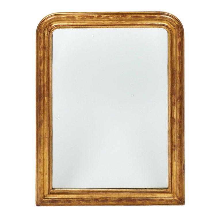 Antique Gold-Leaf Louis Philippe Mirror