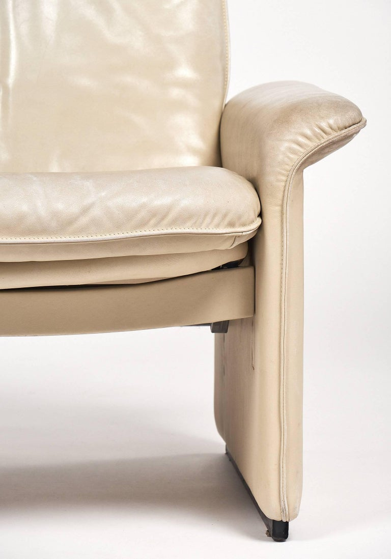 Late 20th Century De Sede Cream Leather Armchairs For Sale