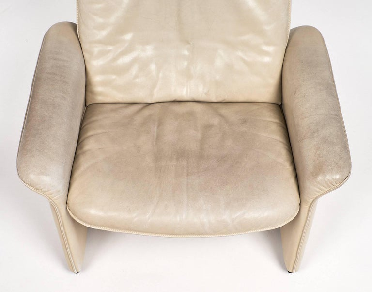 De Sede Cream Leather Armchairs For Sale 1