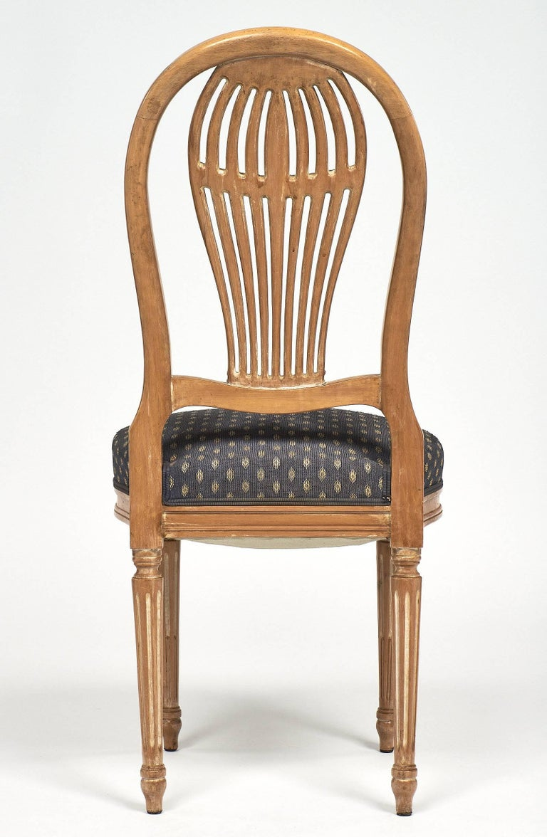 Céruse Louis XVI Style Dining Chairs For Sale 1