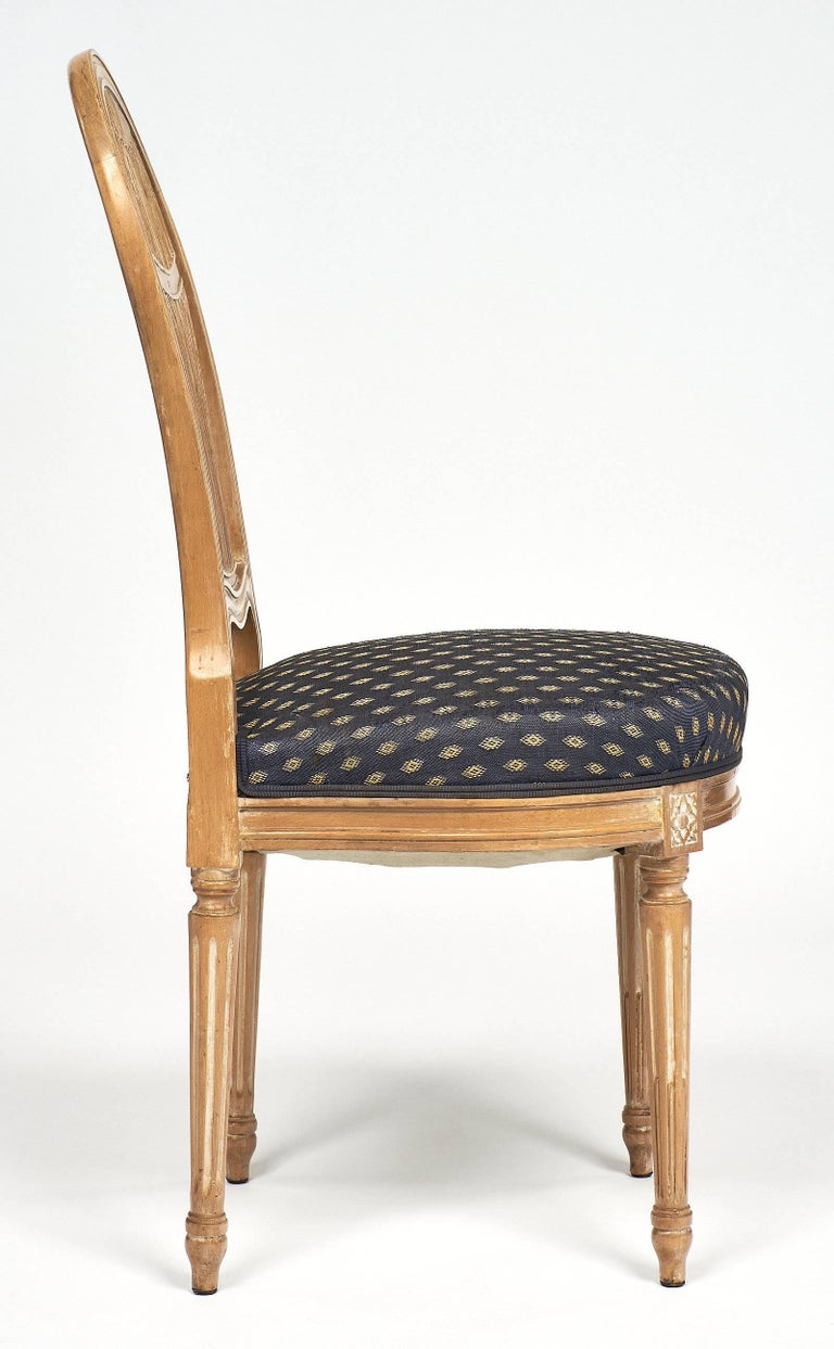 Early 20th Century Céruse Louis XVI Style Dining Chairs For Sale