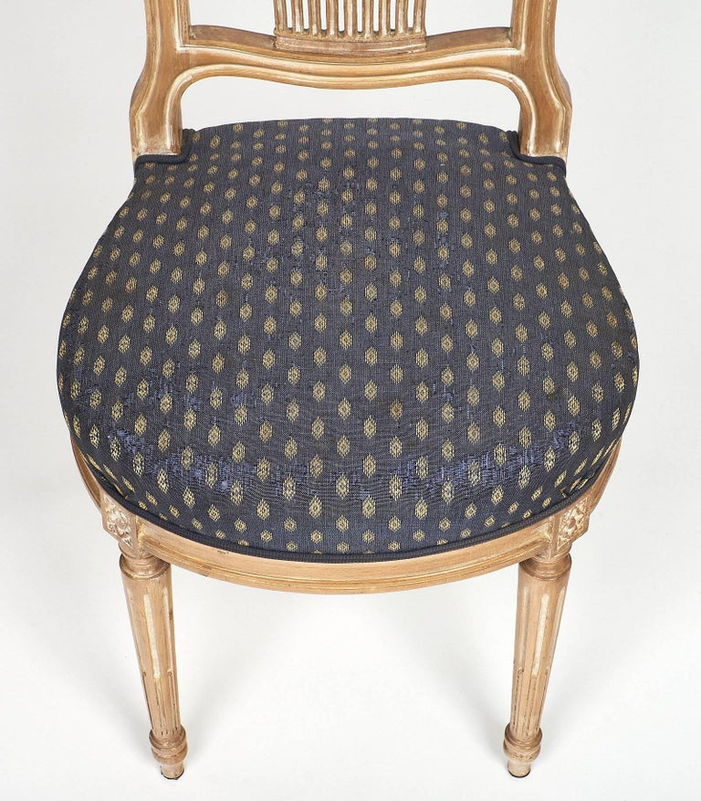Céruse Louis XVI Style Dining Chairs In Excellent Condition For Sale In Austin, TX