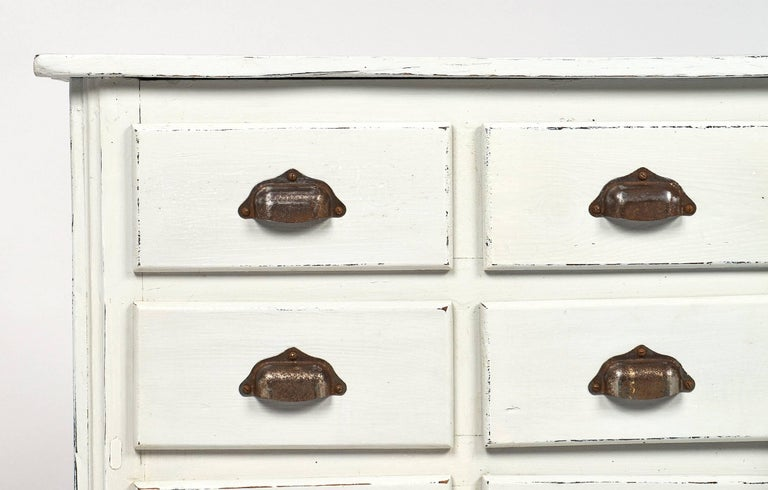 Brass Antique French Haberdashery Cabinet For Sale