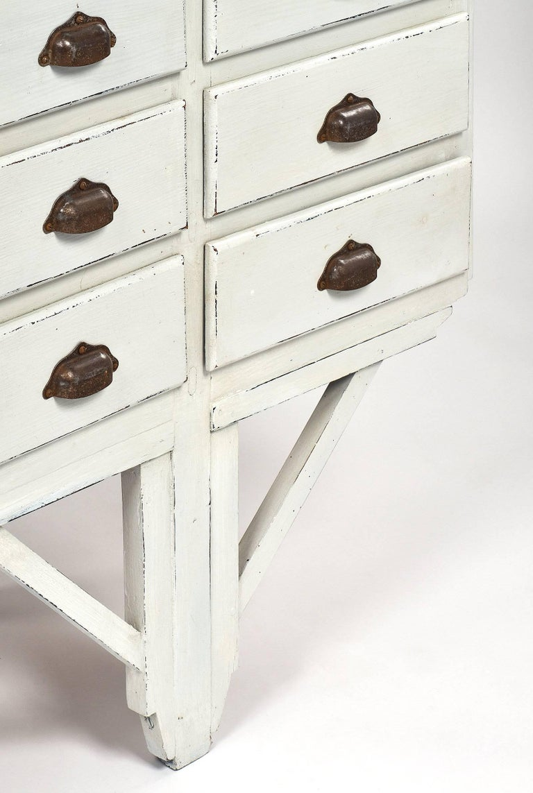 Antique French Haberdashery Cabinet For Sale 1