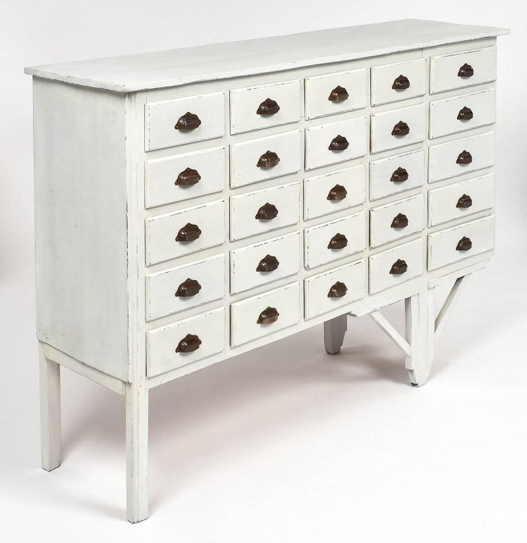 Antique French Haberdashery Cabinet In Excellent Condition For Sale In Austin, TX