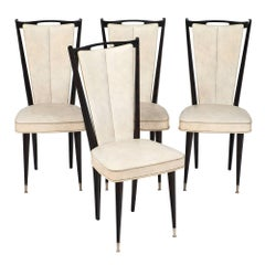 Four Modernist Vintage French Chairs