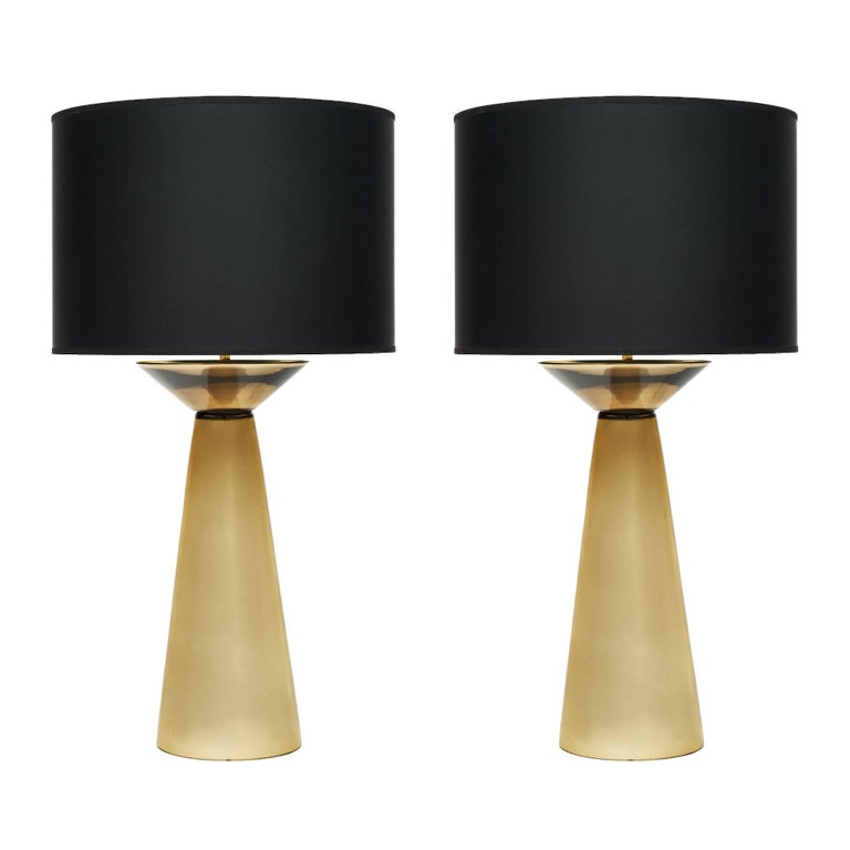Gold Murano Glass Table Lamps For Sale
