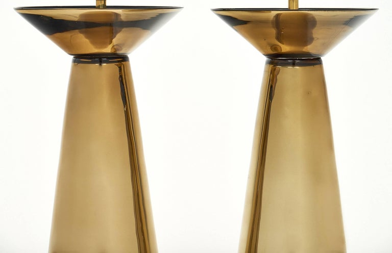 Contemporary Gold Murano Glass Table Lamps For Sale