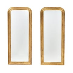 Pair of Louis Philippe Period Gold Leaf Mirrors