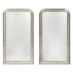 Louis Philippe Period Silver Leaf Mirrors