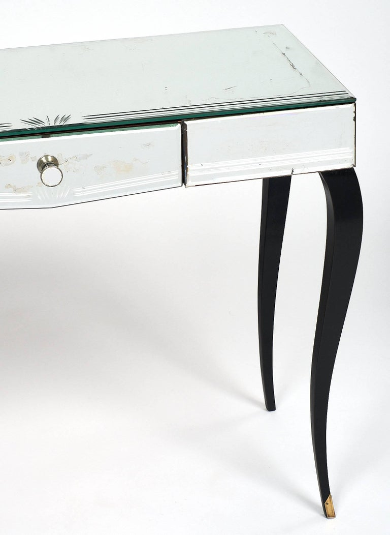 Mirrored Art Deco Period Vanity For Sale 1