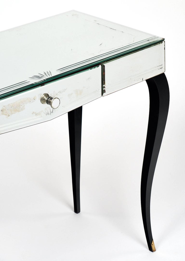 Mid-20th Century Mirrored Art Deco Period Vanity For Sale
