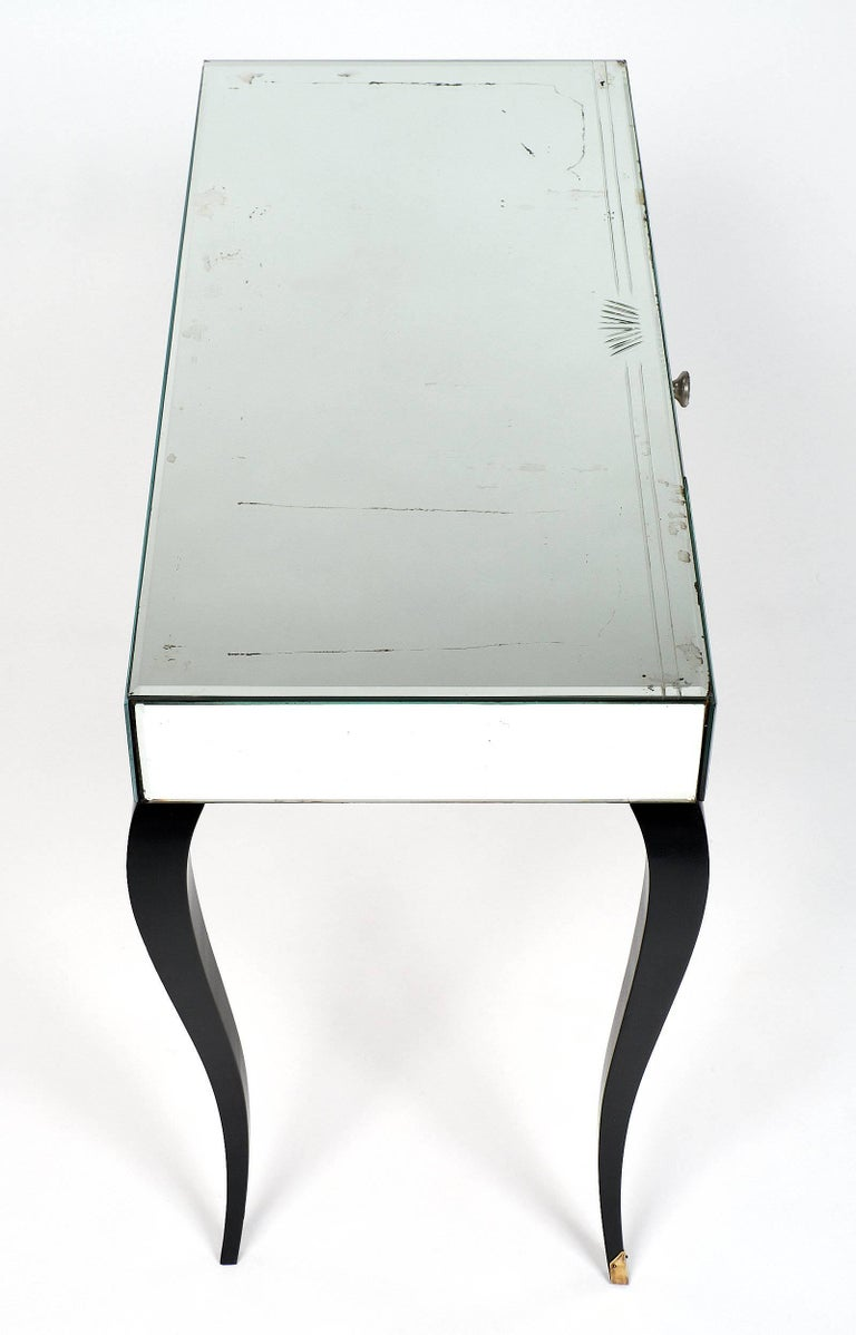 Mirrored Art Deco Period Vanity For Sale 2