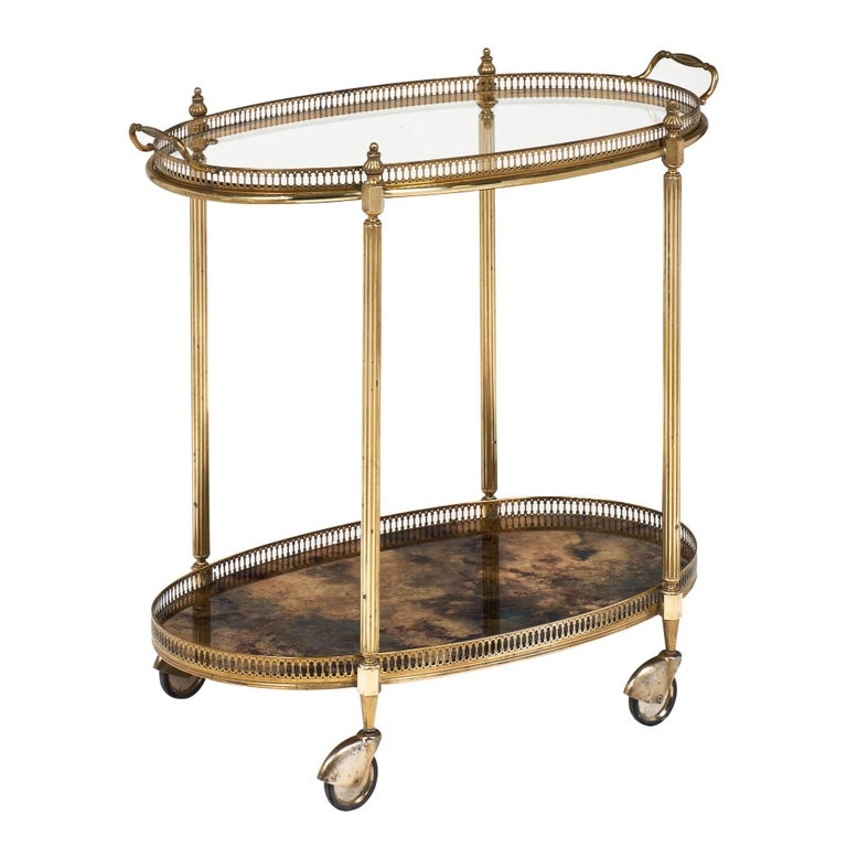 Églomiséd Art Deco Period Bar Cart