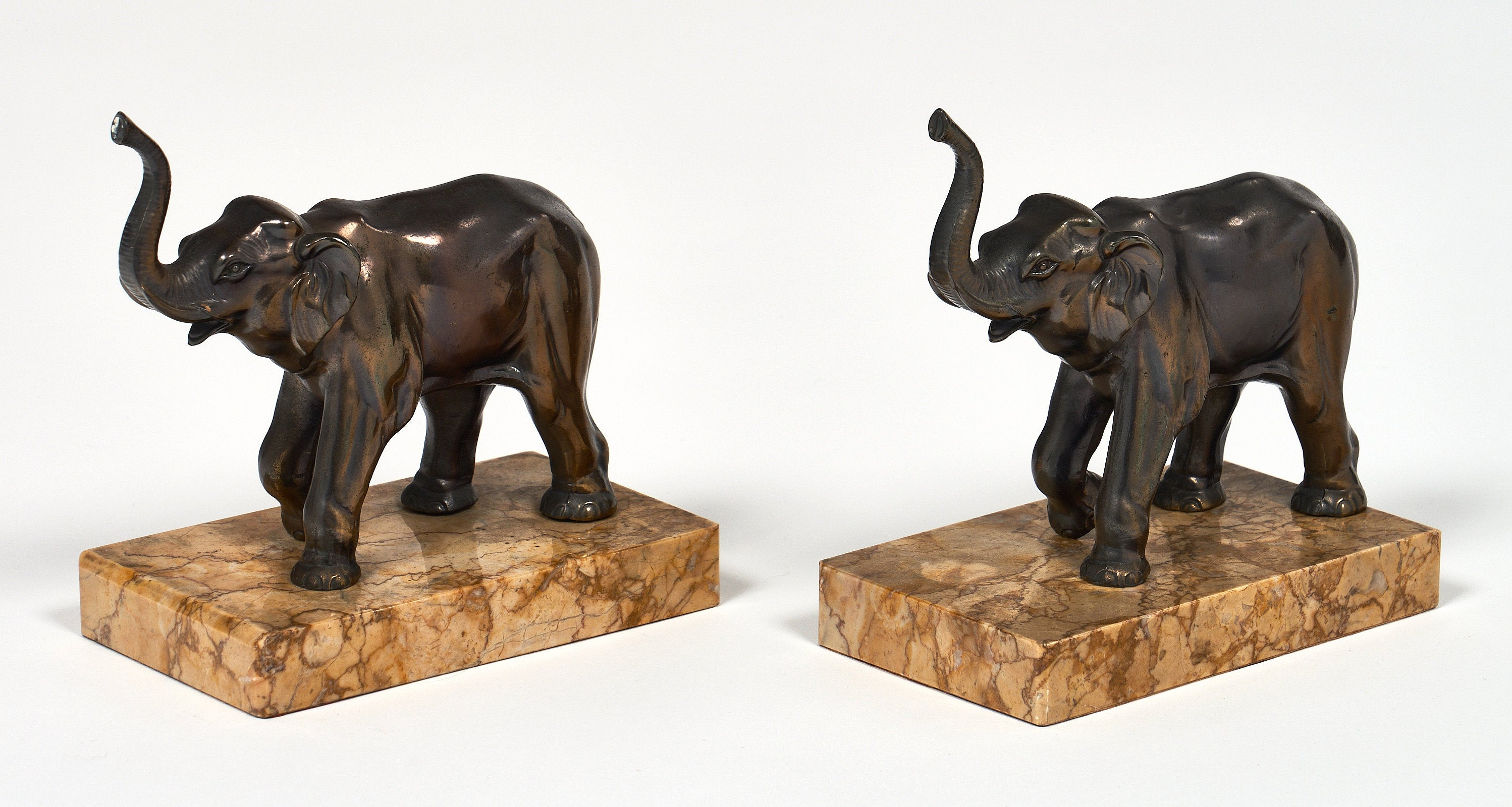 Art Deco Period Elephant Bookends