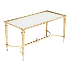 Brass and Mirror Art Deco Coffee Table