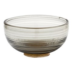 Murano Glass Gray and Avventurina Bowl