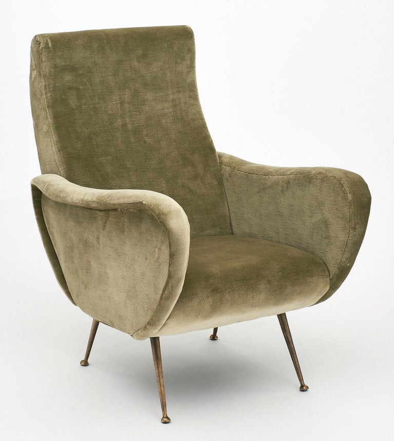 Marco Zanuso Style Italian Lady's Armchairs In Good Condition For Sale In Austin, TX