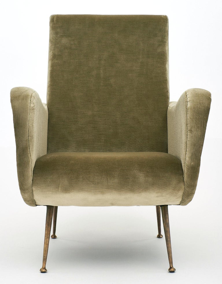 Mid-20th Century Marco Zanuso Style Italian Lady's Armchairs For Sale