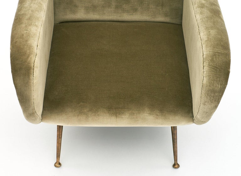 Marco Zanuso Style Italian Lady's Armchairs For Sale 1