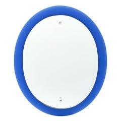 Cobalt Blue Vintage Glass Mirror