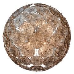 Sputnik Smoked Murano Glass Chandelier