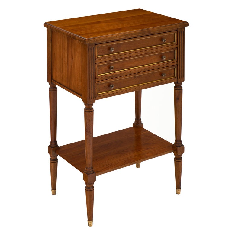 Cherrywood Louis XVI Style Side Table