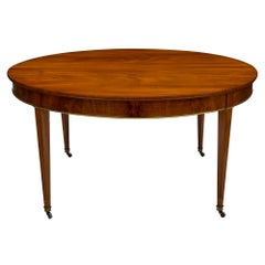 Flamed Mahogany Directoire Dining Table