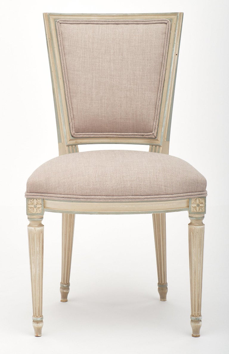 Late 19th Century Louis XVI Style Set of Chairs with Armchairs For Sale