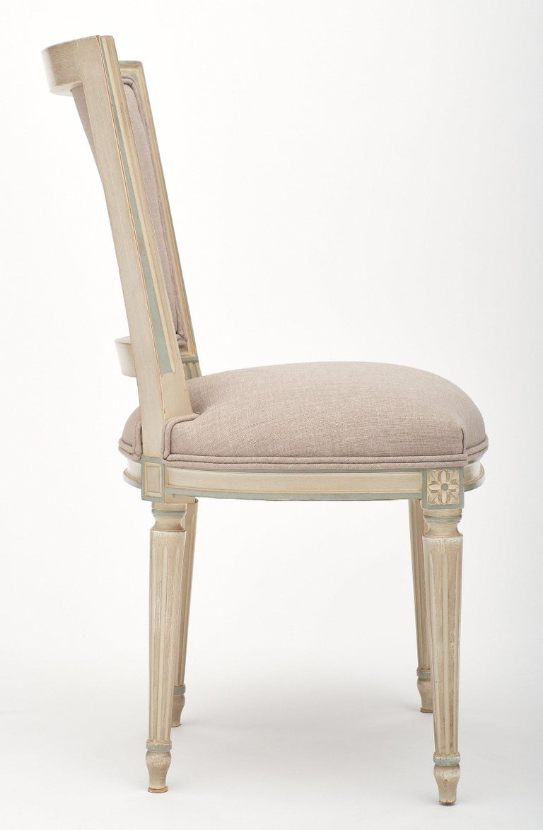 Louis XVI Style Set of Chairs with Armchairs For Sale 1