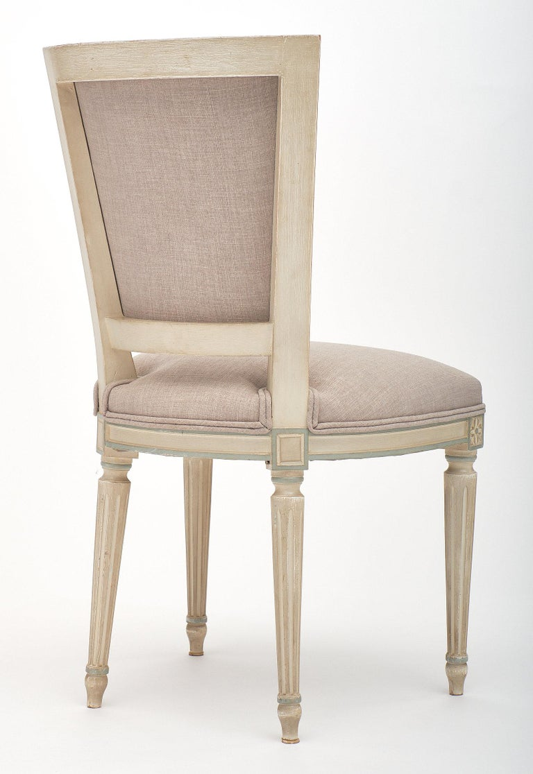 Louis XVI Style Set of Chairs with Armchairs For Sale 4